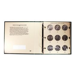 Book of 1986-2012 $1 American Silver Eagle Coins