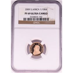 2009 South Africa 1/10 Krugerrand Gold Coin NGC PF69 Ultra Cameo