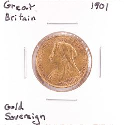 1901 Great Britain Sovereign Gold Coin