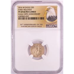 2016-W $5 Proof American Gold Eagle Coin NGC PF69 Ultra Cameo Early Releases