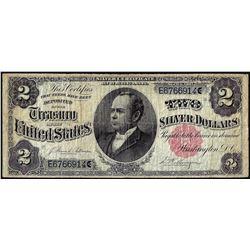 1891 $2 Windom Silver Certificate Note