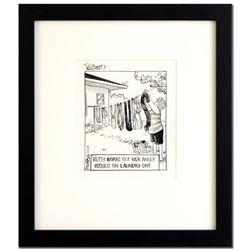 """Dan Piraro Bizarro """"Up Yours (7/6/09-D)"""" Original Drawing"""