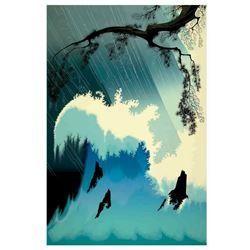 """Eyvind Earle (1916-2000) """"Ocean Splash"""" Limited Edition Serigraph"""