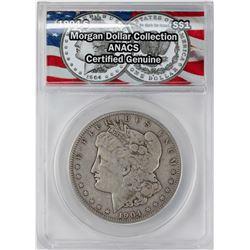 1904-S $1 Morgan Silver Dollar Coin ANACS Genuine