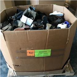 Contents of Large Tri-Wall Box: Shoes, Shoes & More Shoes!