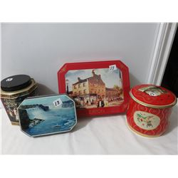 4 Cans, 1 Maid Mist Niagara Falls, Eatons, Two Tea, Etc