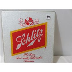 10x12 Shlitz Glass Cutting Board And 1936 Paper Rainer Ale Adv