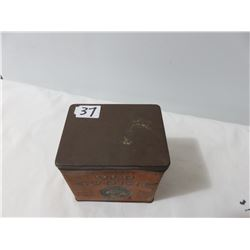 Tucketts Old Square Tabacco Tin- Square Can