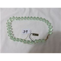 Lucite Necklace With Original Tag