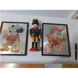 Mickey And Minnie Picture By Disney And Wood Toy Soldier