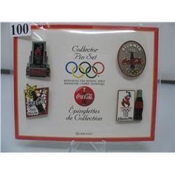 LAPEL PINS - 1996 ATLANTA OLYMPICS -  COCA COLA SET (Set of 4 Pins)