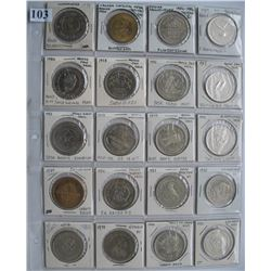 CANADIAN TRADE DOLLARS & SOUVENIR COINS - Lot of 20 Different
