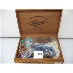 COSTUME JEWELLRY LOT - Full Cigar box