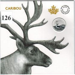 2018 CANADIAN $3 SILVER COIN - .9999 PURE SILVER - CARIBOU