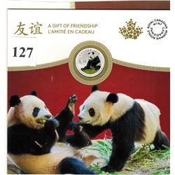 2018 CANADIAN $8 SILVER COIN - .9999 PURE SILVER - Gift of Friendship - PANDAS