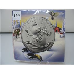2014 CANADIAN $20 SILVER COIN - .9999 PURE SILVER - SNOWMAN