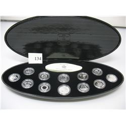 2000 MILLENNIUM COIN SET - STERLING (925) SILVER PROOF COINS - CLAMSHELL CASE