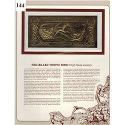 GOLD BANK NOTE - ANTIGUA & BARBUDA - RED BILLED TROPIC BIRD- 30 DOLLARS - LEGAL TENDER