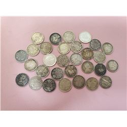 Lot of 30 Canada 5 cent Silver Nice Lot