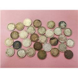 Lot of 30 Canada 10 cent Silver Nice Lot Highly Collectable