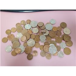 Lot of 92 Old British coins nice lot