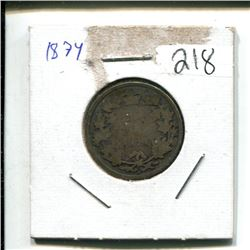 1874 Canada 25¢ 25 cent twenty five