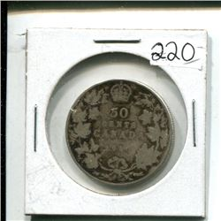 1910 Canada 50¢ fifty cents 50