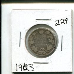 1903 Canada 25 cents 25¢ twenty five