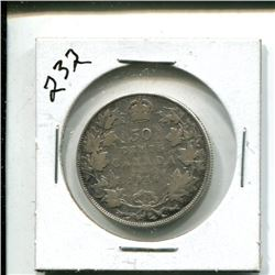 1916 Canada 50 cents 50¢ fifty cent piece