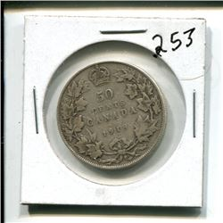 1918 Canada 50 cents 50¢ fifity cent piece