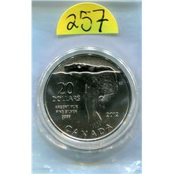 .9999 silver Canada 2012 $20 Twenty Dollars