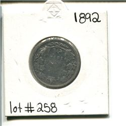 1892 Canada 25 cents 25¢ twenty five cents