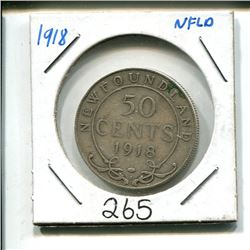 1918 Newfoundland 50 cent 50¢ fifty cents