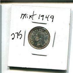 1949 Canada 10 cents 10¢ ten cent