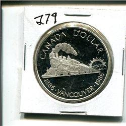 1986 Canada dollar $1 One