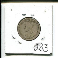 1919 Newfoundland 25 cents 25¢ twenty five cent