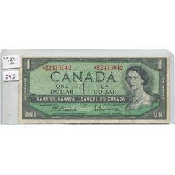 1954 ONE DOLLAR BILL