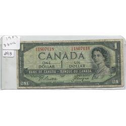 1954 ONE DOLLAR BILL (DEVILS FACE)