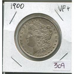 1900 US MORGAN SILVER DOLLAR