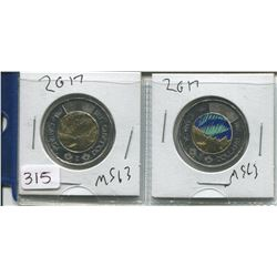 1867-2017 NORTHERN LIGHTS TOONIES (ONE COLOURED)
