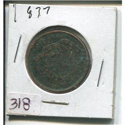 1837 PROVINCE OF CANADA HALF PENNY TOKEN