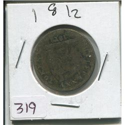 1812 HALF PENNY