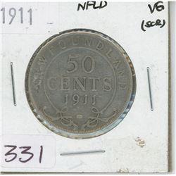 1911 NEWFOUNDLAND 50 CENTS