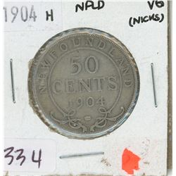 1904 NEWFOUNDLAND 50 CENTS
