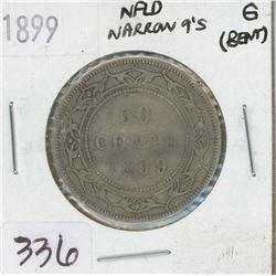 1899 NEWFOUNDLAND 50 CENTS