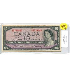 Canada 10 Dollar 1954 Bank of Canada $10 BC-40b Beattie Rasminsky