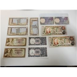 Lot of foreign money, sequential serial #s etc