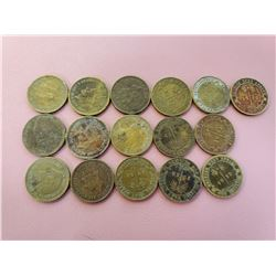Lot of 16 British West Africa One Shilling 1952 Circulated