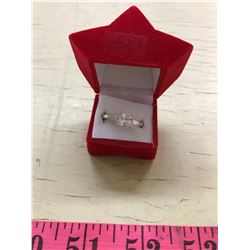 Silver Cubic Zirconia Ring size 7.5