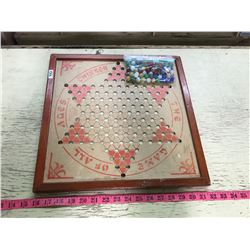 Chinese Checkers Brown MFA CO. Copyright 1937 With Marbles